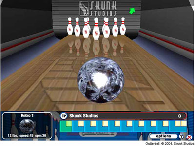 free online bowling games gutterball 2